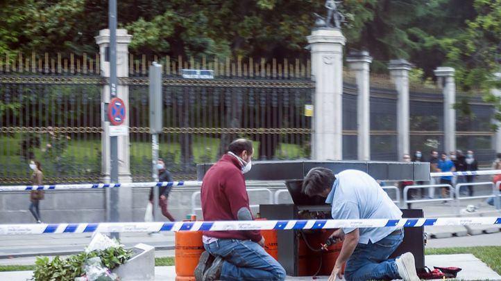 El monumento a las víctimas del COVID-19 se quedó sin gas un día después de ser inaugurado