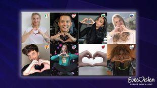Europa enciende una luz para homenajear al festival de Eurovisión 2020