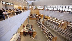 Biblioteca, en una foto de archivo