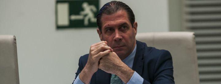 Pedro Fernández, durante un Pleno del Ayuntamiento