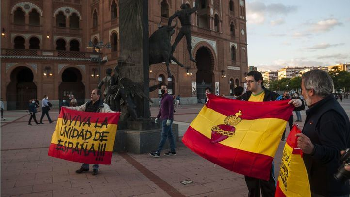 Protesta contra el Gobierno en la plaza de toros de Las Ventas.