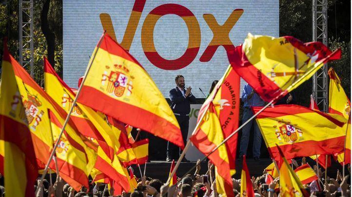 Mitin de Vox en la Plaza de Colón en el pasado mes de noviembre
