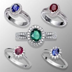 Solitario de color como anillo de compromiso