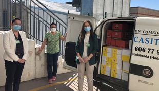 Mercadona dona a la 'La Casita' de Fuenlabrada casi 1.000 kilos de alimentos de primera necesidad