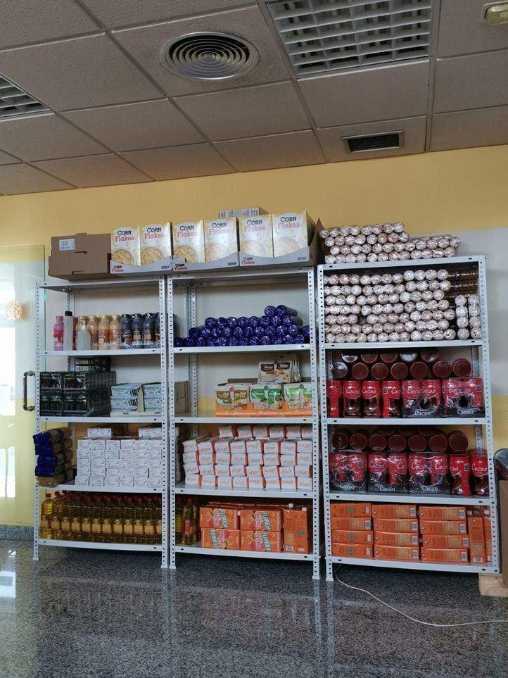 Los productos del banco de alimentos de Arroyomolinos.
