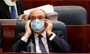 Ángel Gabilondo en la Asamblea de Madrid durante el Pleno especial sobre la gestión del Covid-19