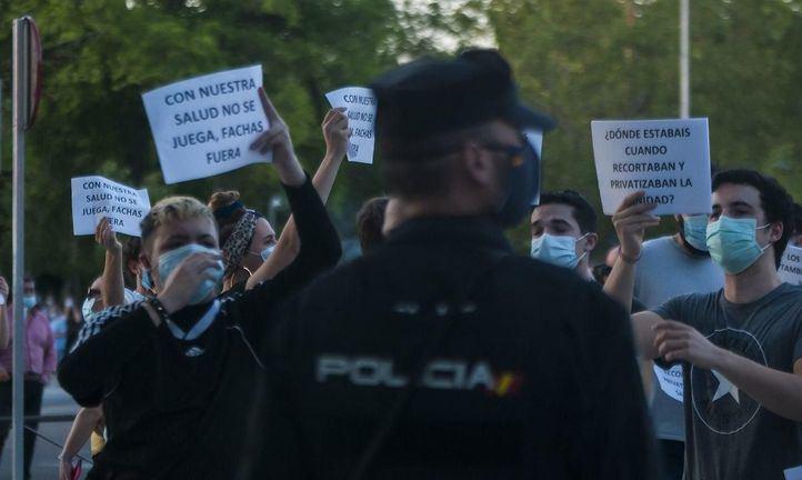 La fuerte presencia policial evita enfrentamientos anoche en Moratalaz