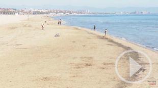 Las playas de Valencia se preparan para el fin del confinamiento