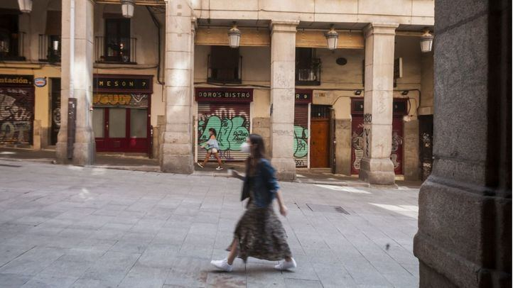 Locales cerrados en el centro de la capital