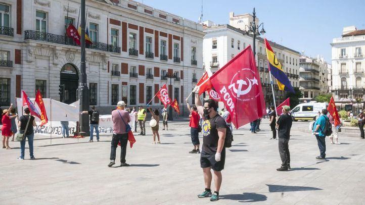 Concentración del PCPE en la Puerta del Sol
