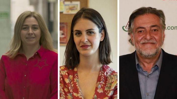 Trío de portavoces en Onda Madrid: Inmaculada Sanz, Rita Maestre y Pepu Hernández