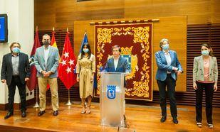 Reunión de portavoces para iniciar la negociación del pacto municipal para reactivar Madrid.