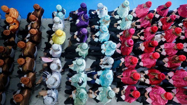 Nuevos doctores durante una ceremonia, en una foto de archivo.
