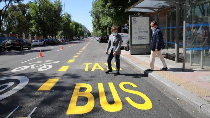 Madrid ampliará más de 45 kilómetros los carriles bus de la EMT