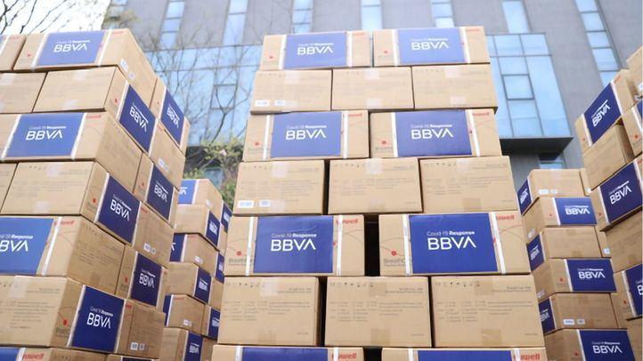 BBVA también ha comprado material sanitario.