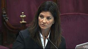 La abogada del Estado Rosa María Seoane durante el juicio al procés en el Supremo.
