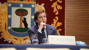El alcalde de Madrid, José Luis Martínez-Almeida, en la rueda de prensa posterior a la Junta de Gobierno.
