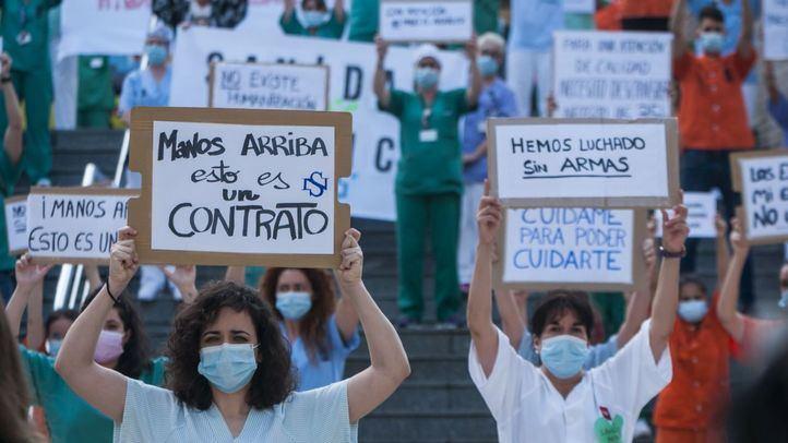 Enfermeras de otras comunidades, rodeadas de incertidumbre a 48 horas de vencer su contrato