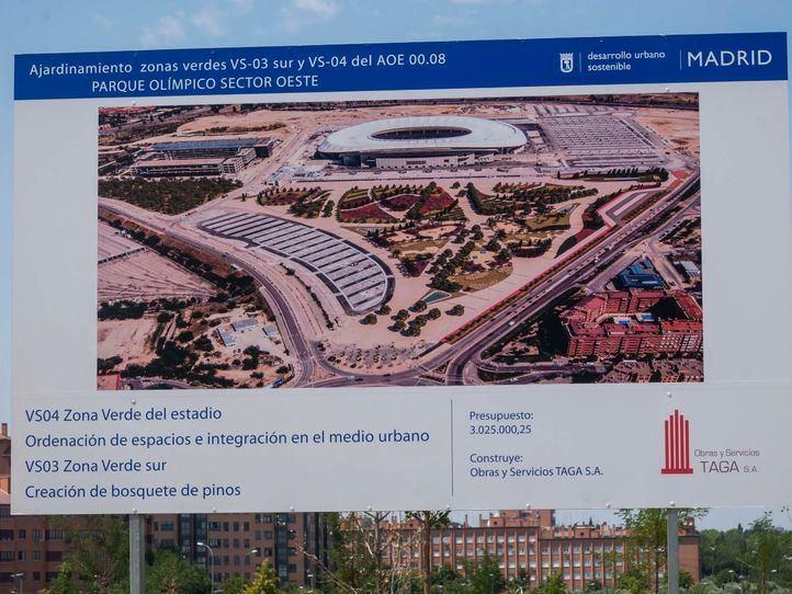 Jardines que rodean el estadio Wanda Metropolitano