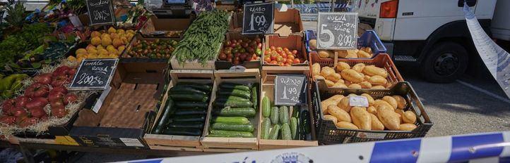 Mercadillo,ftutas y verduras, seguridad.