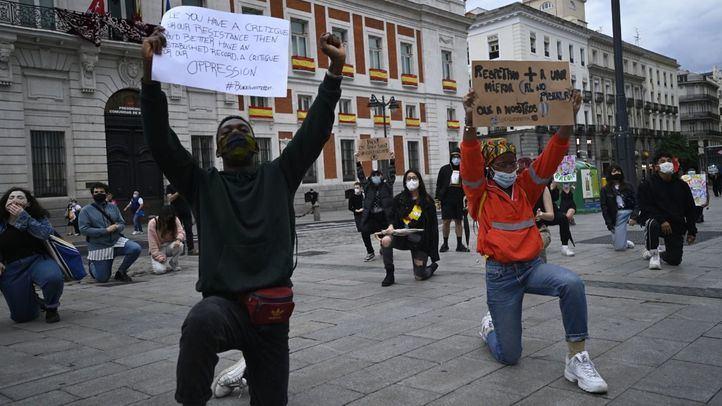 Protesta en Sol por la muerte de George Floyd