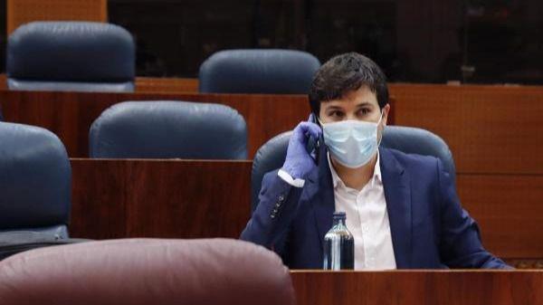 Pablo Gómez Perpinyà en la Asamblea de Madrid