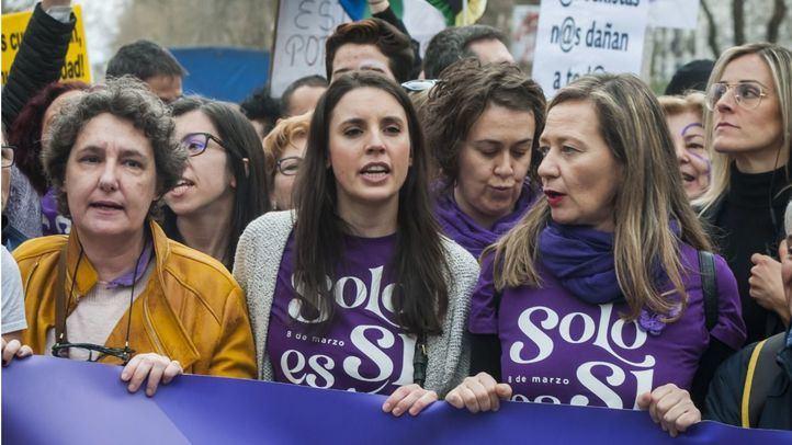 Irene Montero en la manifestación del 8-M