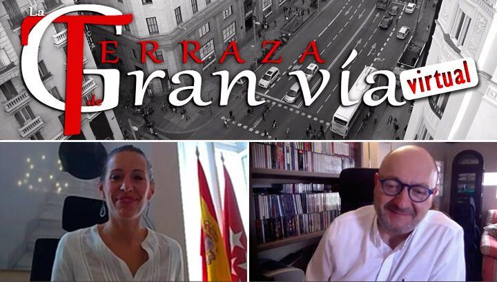 Terraza de Gran Vía Virtual con Eugenia Carballedo