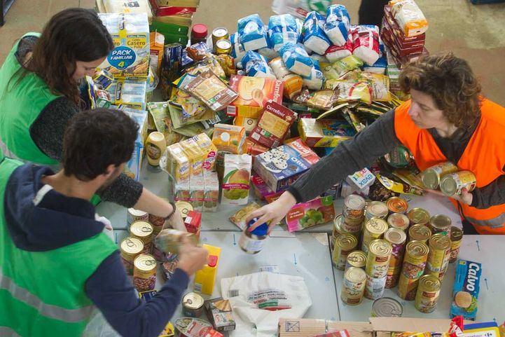 Un Banco de Alimentos, en una foto de archivo.
