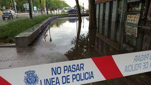 Las tormentas del domingo pasado anegaron varias calles y estaciones de metro
