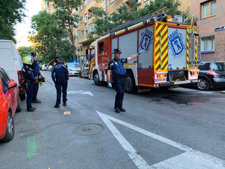 Fallece un hombre en el distrito de Arganzuela al incendiarse su vivienda