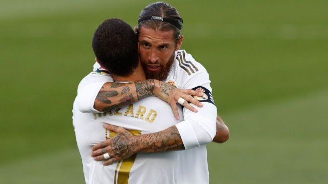 Sergio Ramos y Hazard