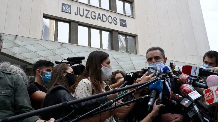 El delegado del Gobierno en Madrid, José Manuel Franco, a su salida de los juzgados.