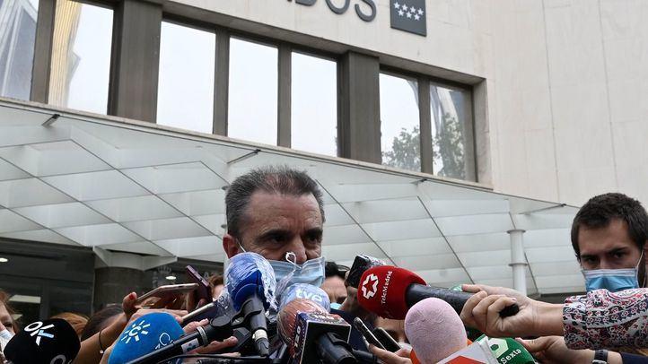 José Manuel Franco testifica en los juzgados de Plaza de Castilla.