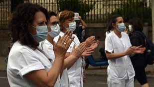 Sanitarias en una concentración en el Hospital Niño Jesús.