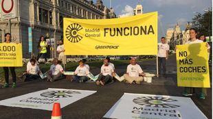 Protesta de Greenpeace por Madrid Central.