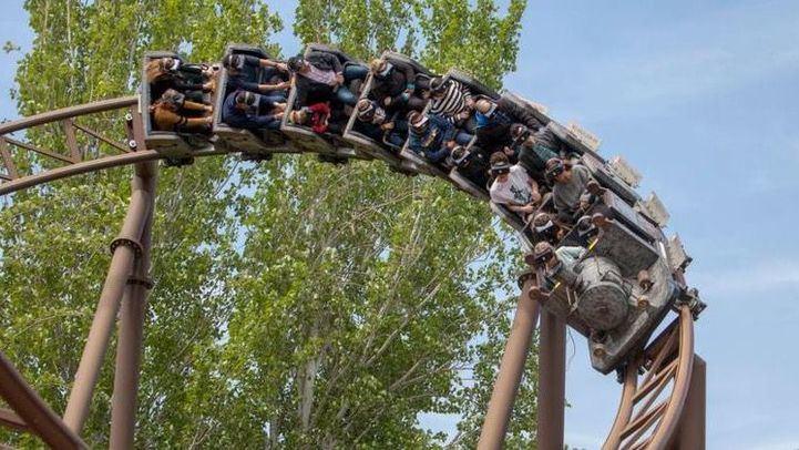 Tren de la mina en el Parque de Atracciones