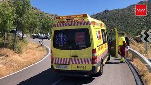 Un ciclista, herido grave tras colisionar con una motocicleta en Zarzalejo