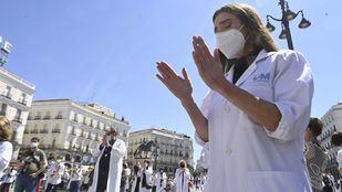 Los médicos salen a la calle a defender sus derechos tras una dura lucha contra la Covid durante la pandemia
