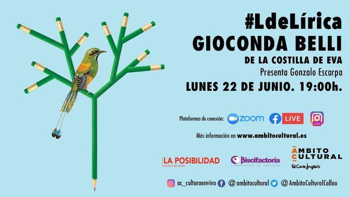 L#Lírica de Ámbito Cultural baja el telón hasta otoño con la poeta Gioconda Belli como gran protagonista