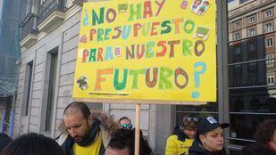 Una de las protestas vecinales en el barrio de Butarque.