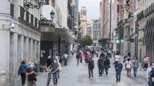 Calle Preciados durante la desescalada