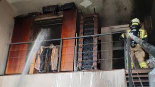 Incendio en una vivienda de Leganés.