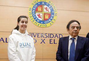 Carolina Marín y Fernando Rivas explican junto a la UAX su técnica ganadora
