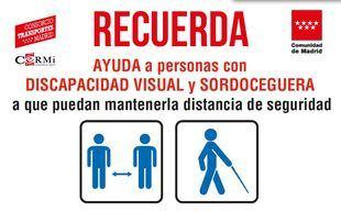 La Comunidad de Madrid lanza una campaña para la movilidad segura de las personas con discapacidad