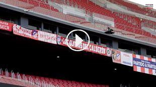 Peñas atléticas apoyan a distancia al equipo con sus pancartas