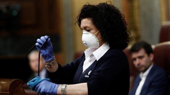 Valentina Cepeda, trabajadora de limpieza de Clece en el Congreso