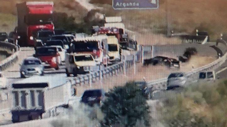 Un hombre, herido tras dar varias vueltas de campana con su coche en la A-3