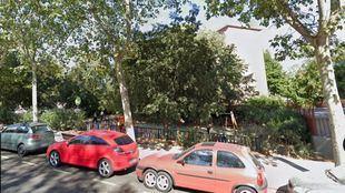 Parque en el que se produjo el intento de violación, en San Blas