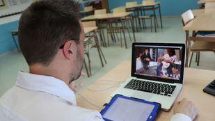 Imagen de archivo de una clases online durante la pandemia